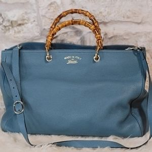 Gucci Large Shopper Tote with Bamboo Handle